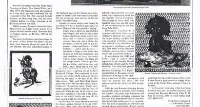 This article about Brownie's work featured in the Antiques in New South Wales in 1997
