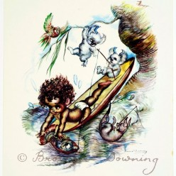 Print - indigenous Australian child 8