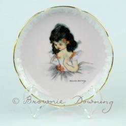 Ceramic plate with gilt edge 1 - ballet