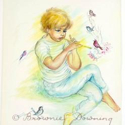 Original painting - Bird music