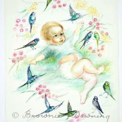 Original painting - Birdsitters