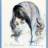 Original painting - Blue scarf girl