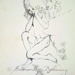 Original drawing - child and koala