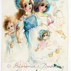 Original painting - dolls