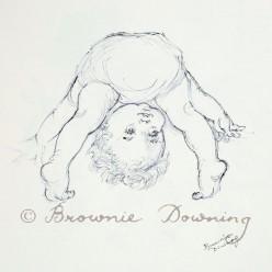 Original drawing - funny baby