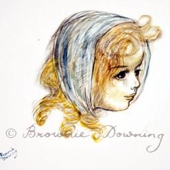 Original painting - Study of an Irish girl