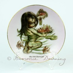 Ceramic plate 1 -indigenous Australian child