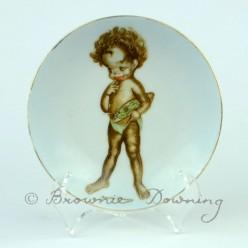 Ceramic plate 11 -indigenous Australian child