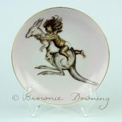 Ceramic plate 12 -indigenous Australian child