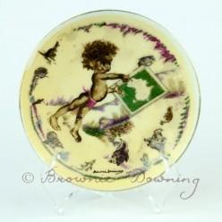 Ceramic plate 6 -indigenous Australian child