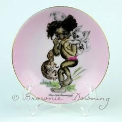 Ceramic plate 9 -indigenous Australian child