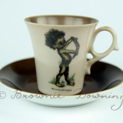 Cup and saucer - indigenous Australian boy
