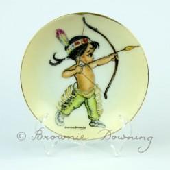 Ceramic plate 1 - native American boy