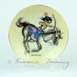 Ceramic plate 2 - native American boy