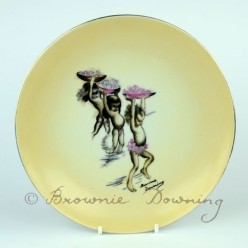 Large ceramic plate 1 -indigenous Australian child