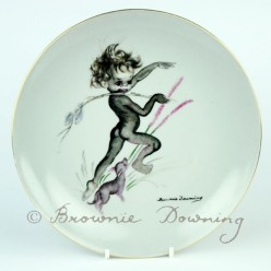 Large ceramic plate 2 -indigenous Australian child