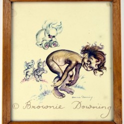 Original framed print - indigeneous Austrailian child