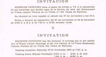 Invitation for opening at Mallorca Gallery